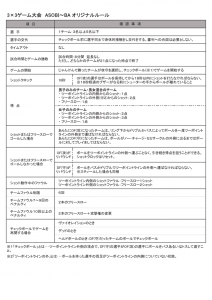3×3ゲーム大会 ASOBI~BAオリジナルルール